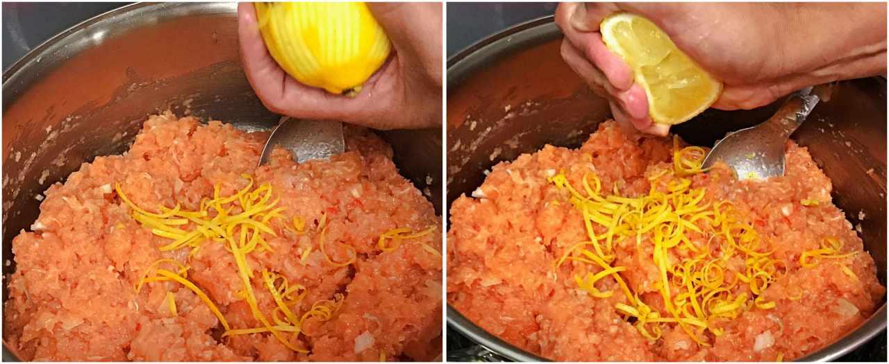 Hambúrguer de salmão e molho Tzatziki 1
