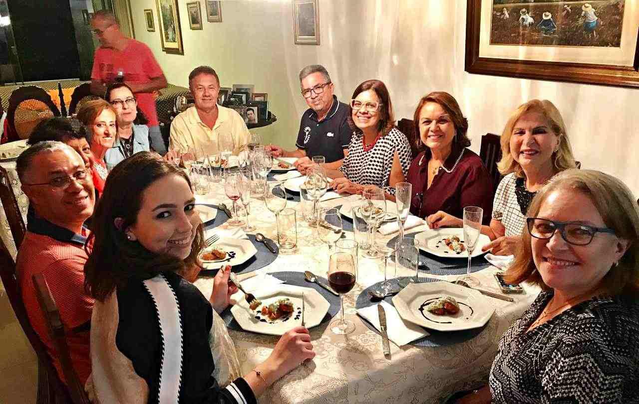 Jantar com amigos - Bacalhau com Legumes e Crosta de Queijo