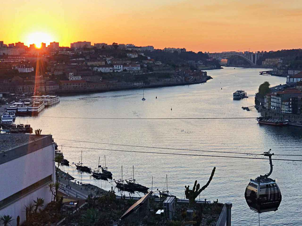 Vila Nova de Gaia - pôr-do-sol