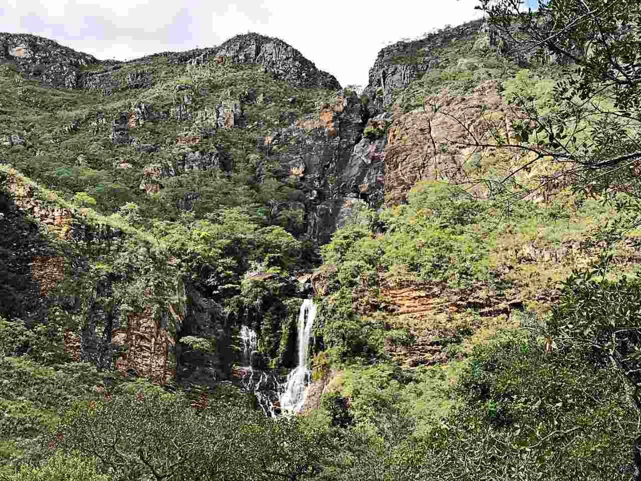 Cachoeira da Farofa vista de longe