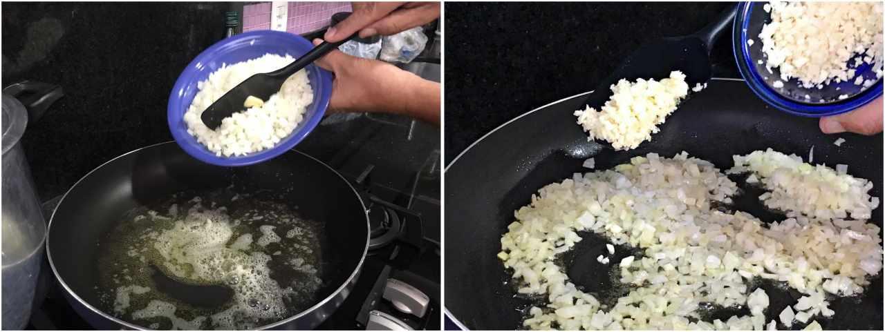 risoto de manga - preparo