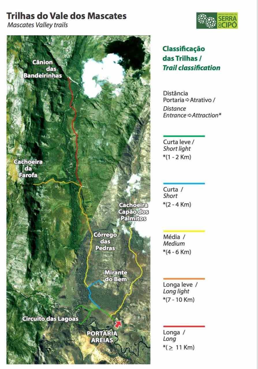 Trilhas do Vale dos Mascates - Parque Nacional da Serra do Cipó