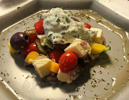 Salada grega receita fácil e saudável