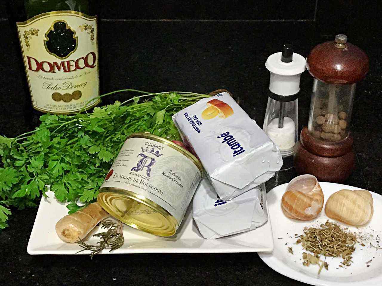 Ingredientes Escargot à Bourgogne