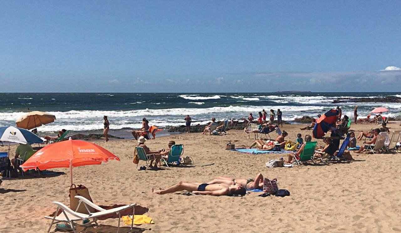 Praia mansa Punta del Este Uruguai