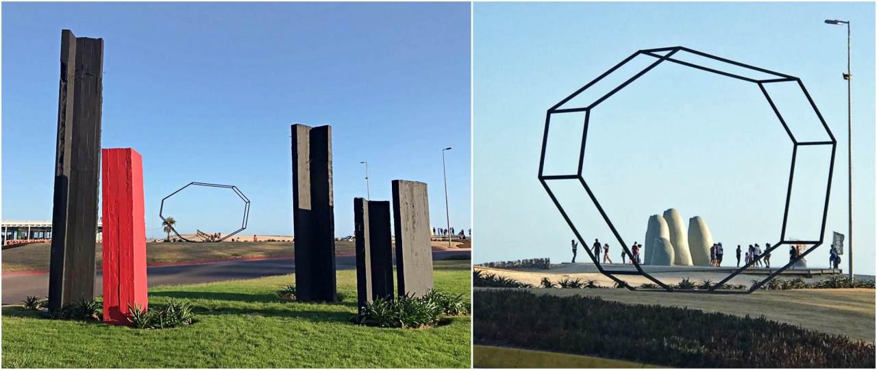 Esculturas Praça de frente ao Las Manos