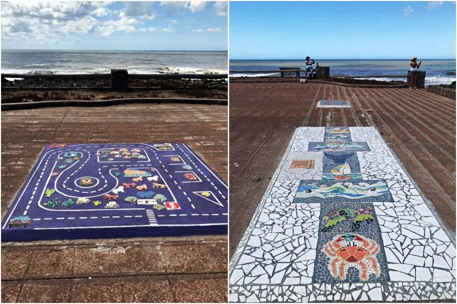 Plaza Gran Bretaña - Mosaicos
