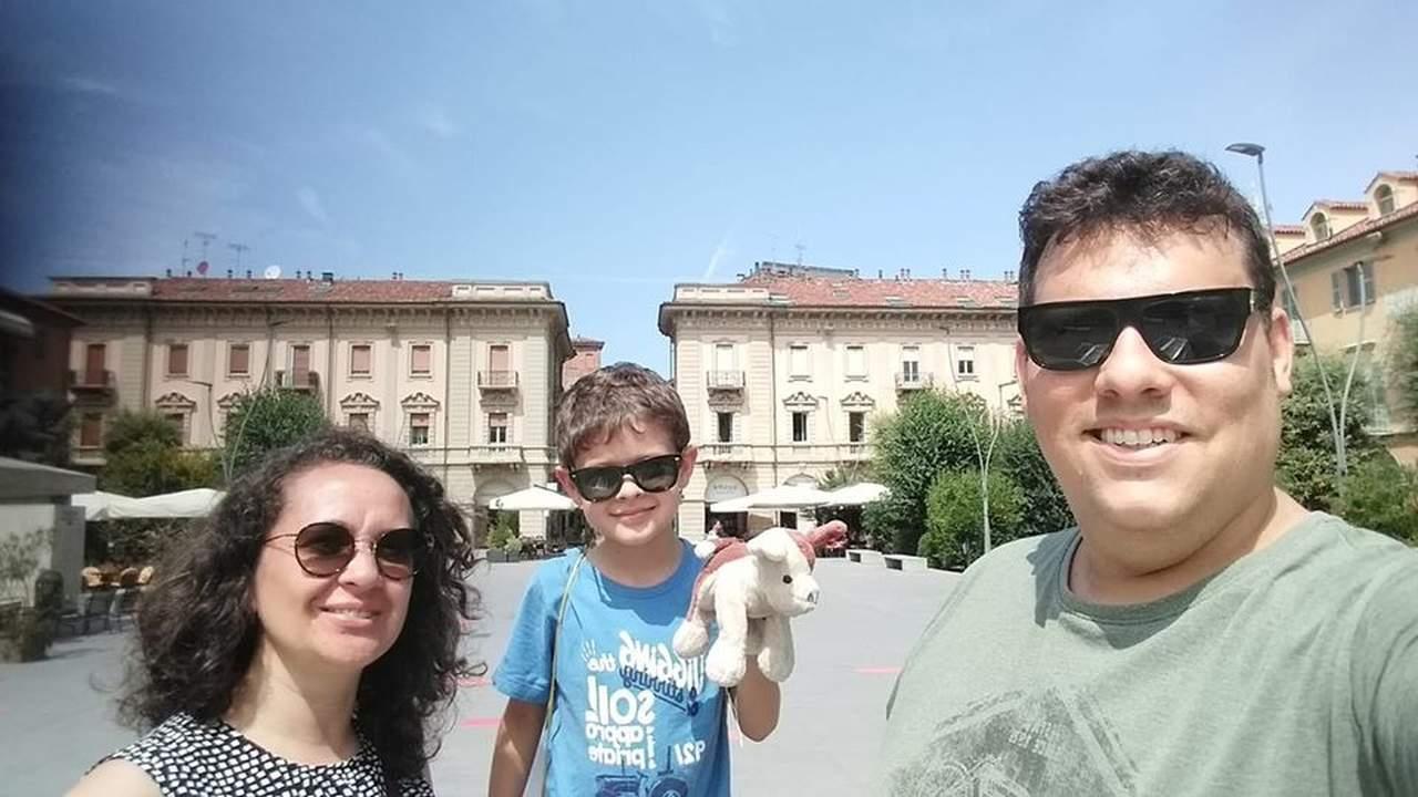 Guilherme e familia, na Itália