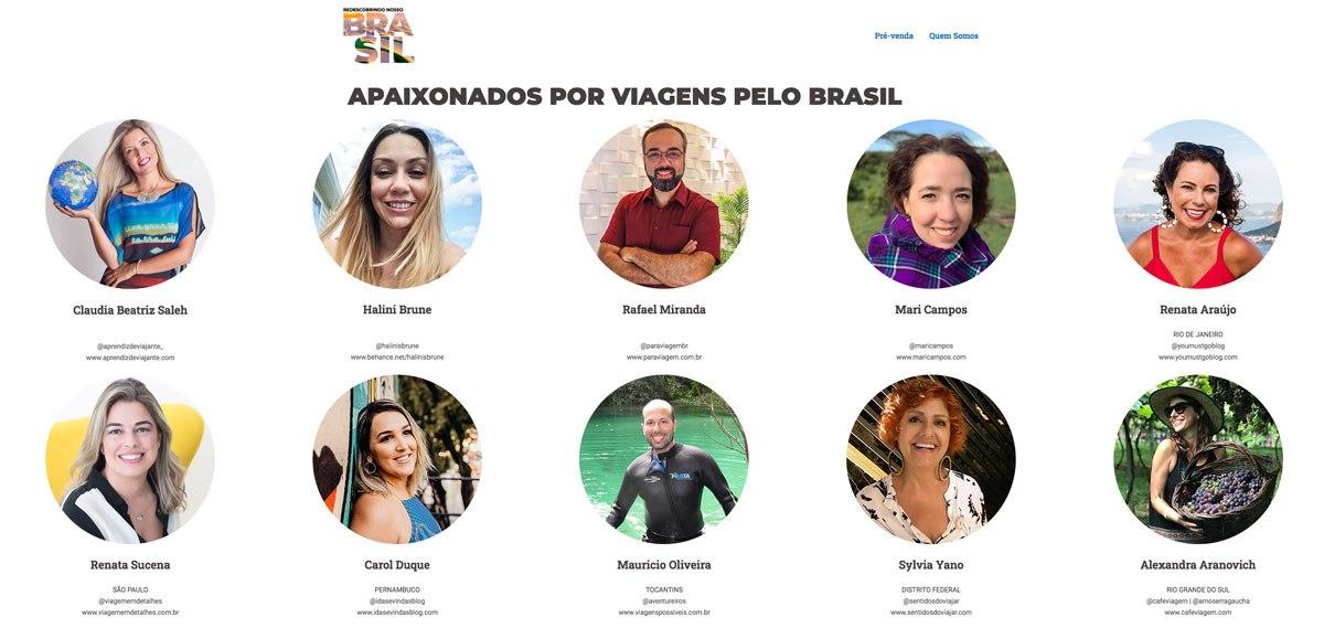 Participantes do Guia de Viagens Redescobrindo Nosso Brasil