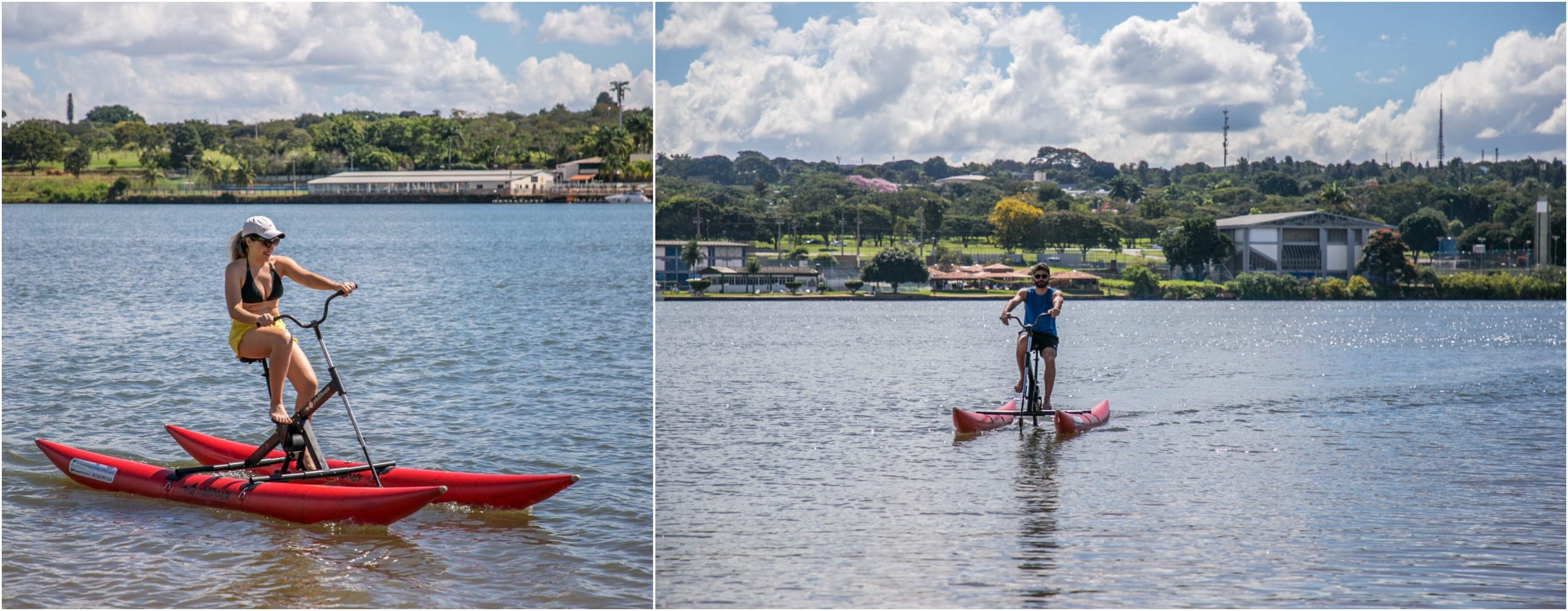 Pedalando no Lago Paranoá - Bicicleta Aquática