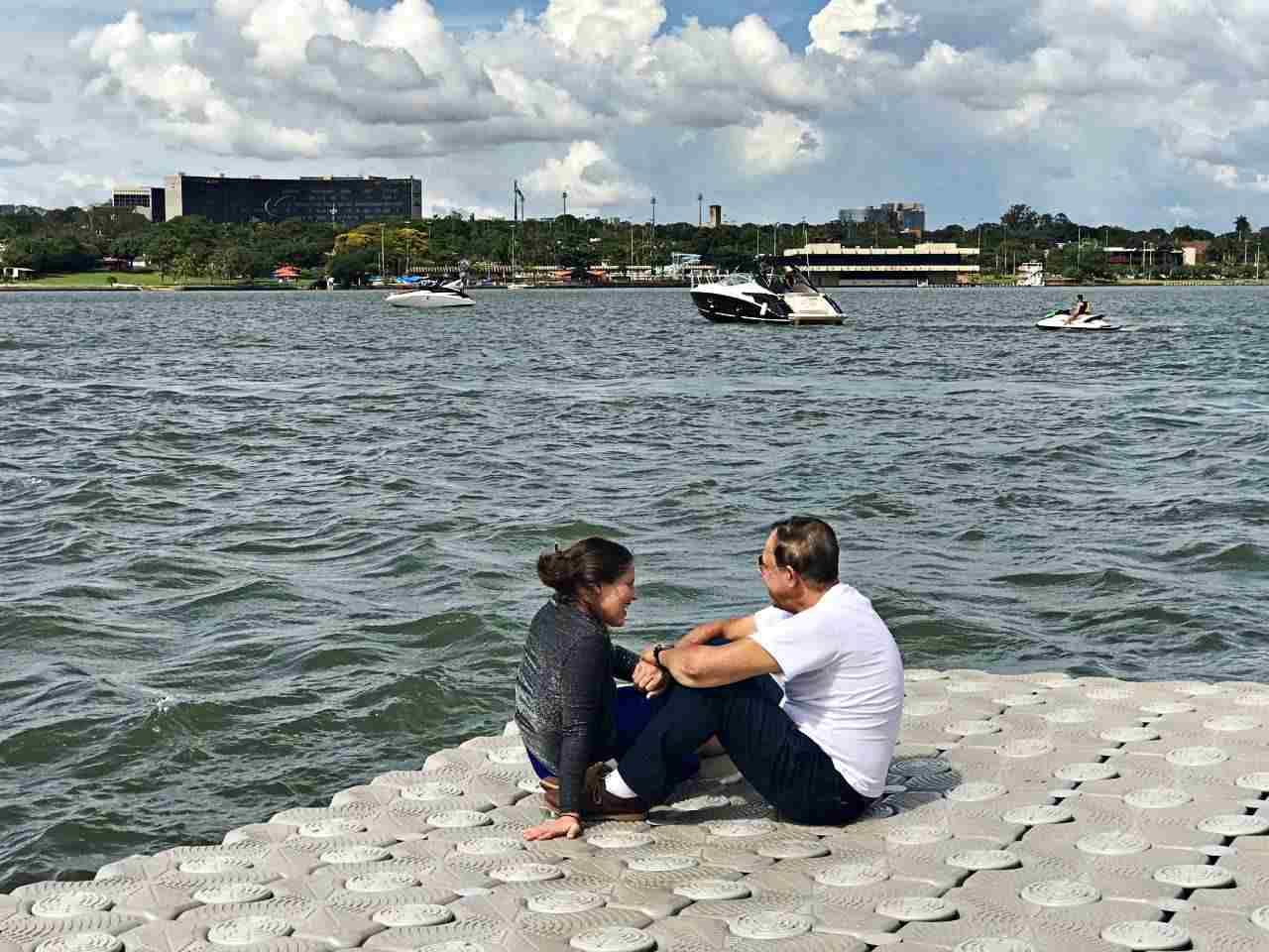 O romantismo do Lago Paranoá