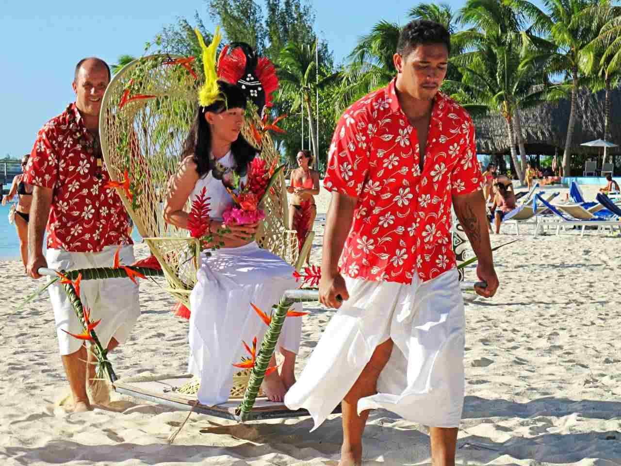 Casamento típico Polinésio - Bora Bora