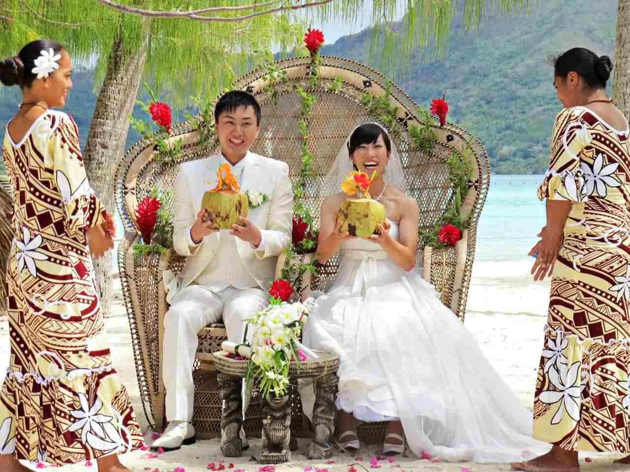 Casamento na Polinésia Francesa