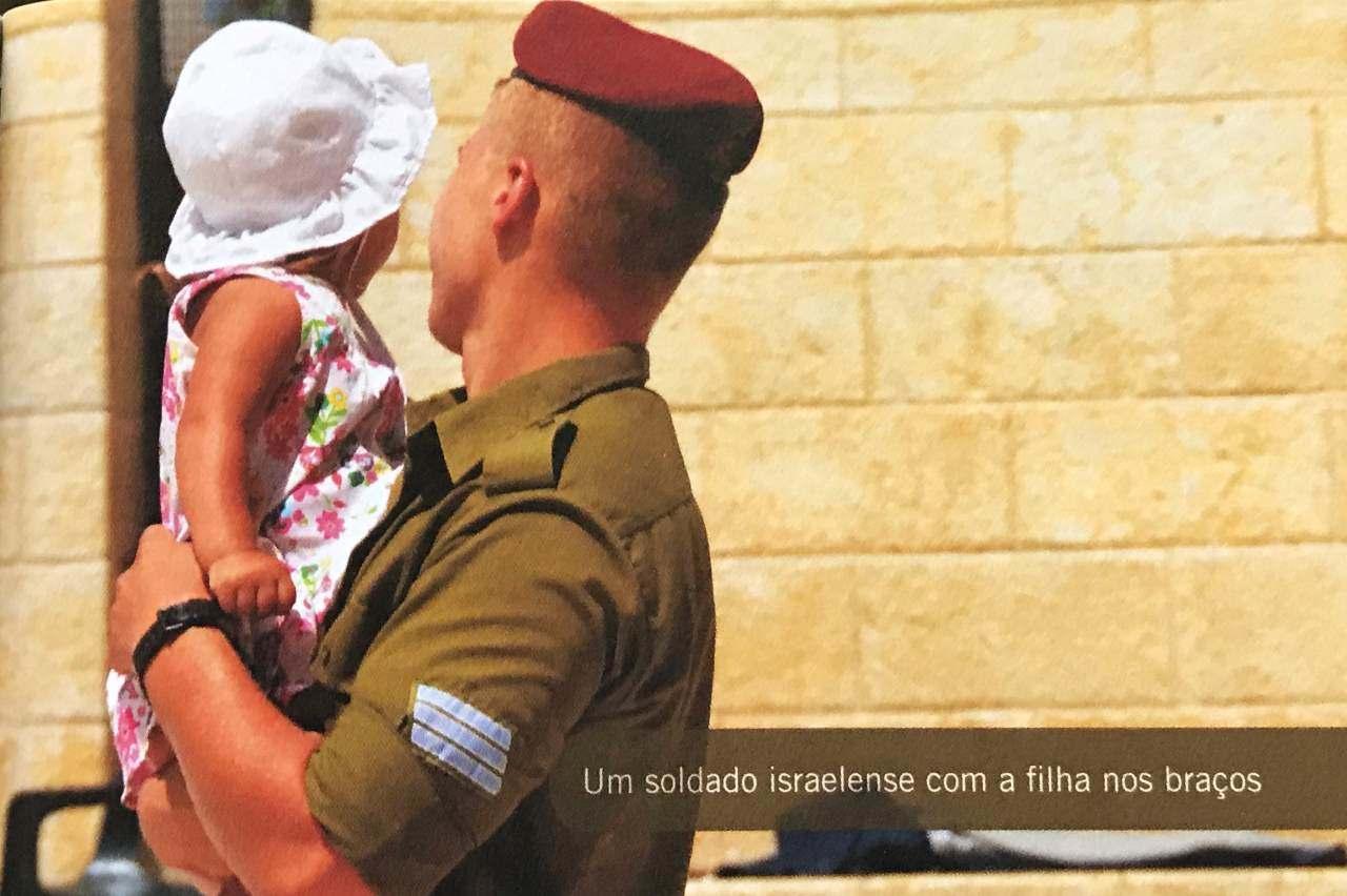 30 dias na terra dos Salmos - soldado israelense com filha