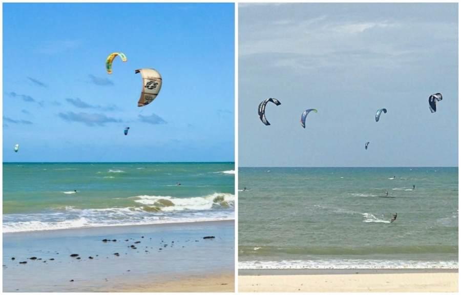 kitesurfe na praia do Cumbuco