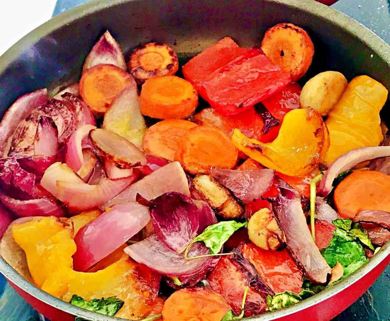 Grelhando legumes